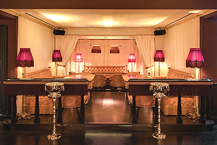 The Opera **Park Chinois has a stylish semi-private party Space for hire in Mayfair.**