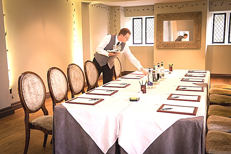 The Old Chapel **The Old Chapel at Ellenborough Park is a stylish auditorium for hire in Cheltenham.**  This double-height auditorium is located in The Mews and has lofty ceilings and original arched windows which