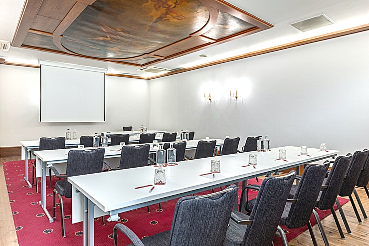 Ferdinand Bol 4 Ferdinard Bol Room 4 is 1 out of 4 meeting rooms which can be combined all together. This meeting room is 55m2 and has a ceiling height of 2.90 meters. You can host up to 50 people.  The meeting room is equipped with air conditioning, free Wi-Fi, a carpetted floor, high quality furniture, high speed internet and has variable light and variable walls.  Feel Safe at NH: NH Hotel Group launched Feel Safe at NH in collaboration with the SGS. As part of this, 10 protocols have been established for the safety of guests, participants and employees. With this, we guarantee that you can organize your meeting or event in all health and safety. Our F&B services are also adapted to the current situation.  The loaded meeting room capacity is the standard one. In case that any COVID restriction or regulation applies to your request, the selected hotel will apply the corresponding restrictions during the quotation process. Based on destination, size and date of the event.
