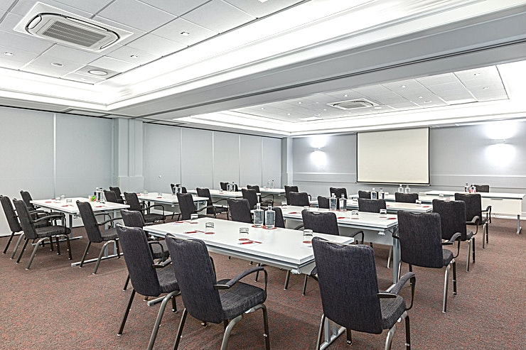 Ferdinand Bol 3 + 4 Ferdinard Bol 3 + 4 are 2 out of 4 meeting rooms which can be combined together. This combined meeting room area is 98m2 and has a ceiling height of 2.90 meters. You can host up to 100 people.  The meeting room is equipped with air conditioning, free Wi-Fi, a carpetted floor, high quality furniture, high speed internet and has variable light and variable walls.  Feel Safe at NH: NH Hotel Group launched Feel Safe at NH in collaboration with the SGS. As part of this, 10 protocols have been established for the safety of guests, participants and employees. With this, we guarantee that you can organize your meeting or event in all health and safety. Our F&B services are also adapted to the current situation.  The loaded meeting room capacity is the standard one. In case that any COVID restriction or regulation applies to your request, the selected hotel will apply the corresponding restrictions during the quotation process. Based on destination, size and date of the event.