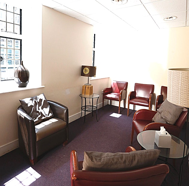 The Quiet Room A small intimate room perfect for private counselling and interviews.