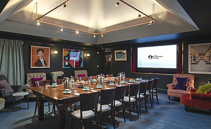 Snooker Room **Hire the Snooker Room at The Groucho Club for your next London meeting room hire.**