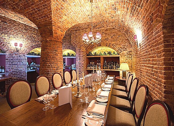 Cellar Dining Room **An intimate, underground quirky function room, the Cellar Dining Room is perfect for a more informal setting.** 