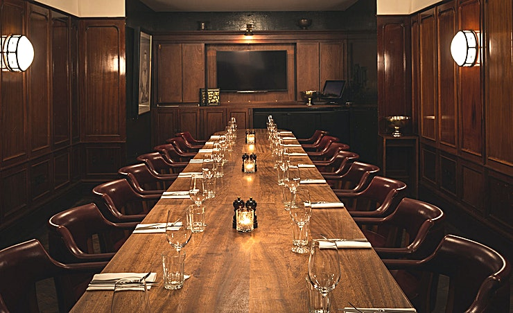 Private Dining Room **Hawksmoor Guildhall has a stunning private dining room for hire in the heart of City of London.**  Hawksmoor is currently reopening their restaurants from July 9th – September 1st. To read about the
