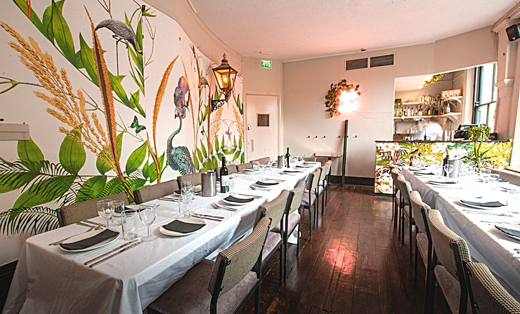 The Aviary **The Aviary at Upper House is a one-of-the-kind dining venue available for hire in Islington.**  It's an impressive three-storey Victorian townhouse on Upper Street. The venue has a long history, and has been a purveyor of fine food, drinks and entertainment since 1856.  Upper House is one of the most stylish London party venues in North London and the Aviary will definitely impress all your guests!  Today, its current owners, armed with a drill and a creative mind, have transformed its interiors into a magical place where there is only room to eat, drink and party!  Whether you're looking for somewhere to reserve a few tables for drinks, cocktails at the bar, a banquet table for private dining or an exclusive room for a birthday party or a wedding reception, Upper House makes the perfect venue for any size soiree.  The Aviary is one of our beautiful private rooms situated on the middle floor of the House, with space for 36 seated or 50 standing. The room boasts its own bespoke bar, as well as its calm and vivid environment and enormous windows overlooking the historic Upper street.  --PLEASE NOTE THIS SPACE FEE IS BASED ON A MINIMUM SPEND—