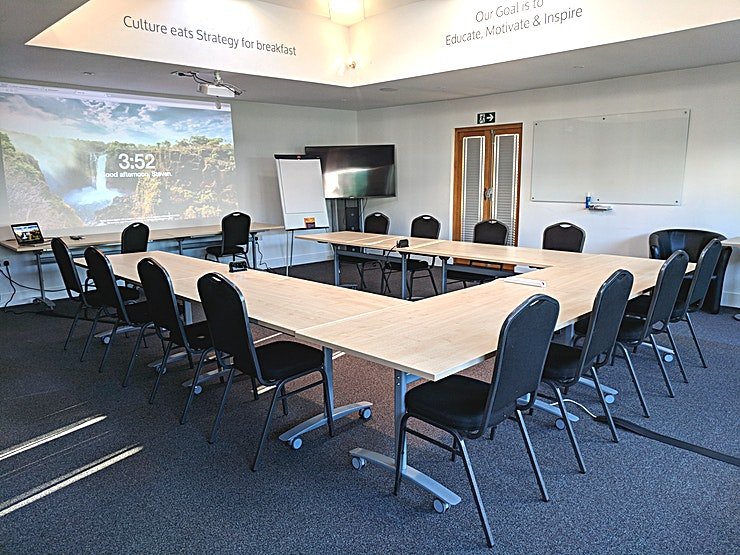 Curious Cows Conference Room **The Curious Cows Conference Room is Halton's flagship meeting venue.** 