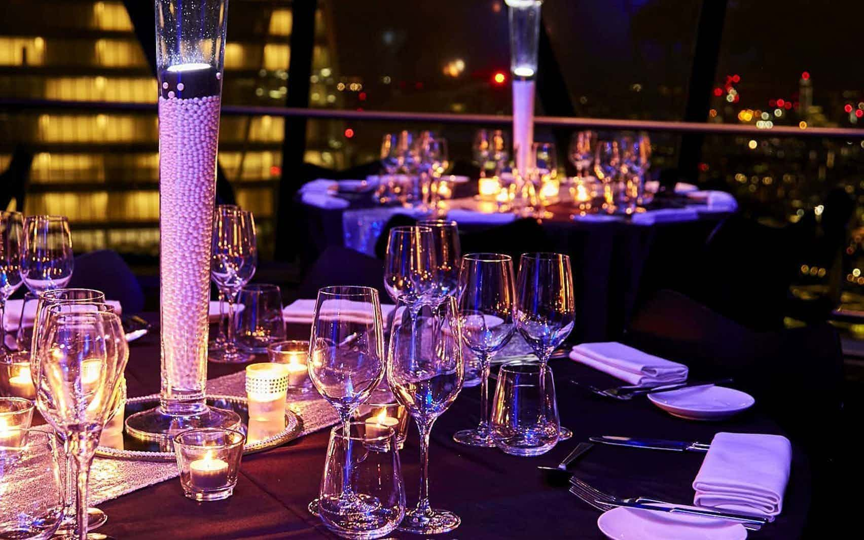 Christmas Private Dining at The Gherkin, Searcys at The Gherkin