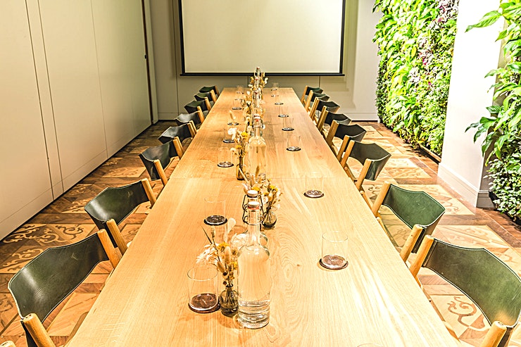 The Wangari Room **The Wangari Room at The Conduit is a stylish room for hire in Mayfair.**  Located within the multi-purpose Living Rooms on the 1st floor, the Wangari Room is named after renowned Kenyan activist,