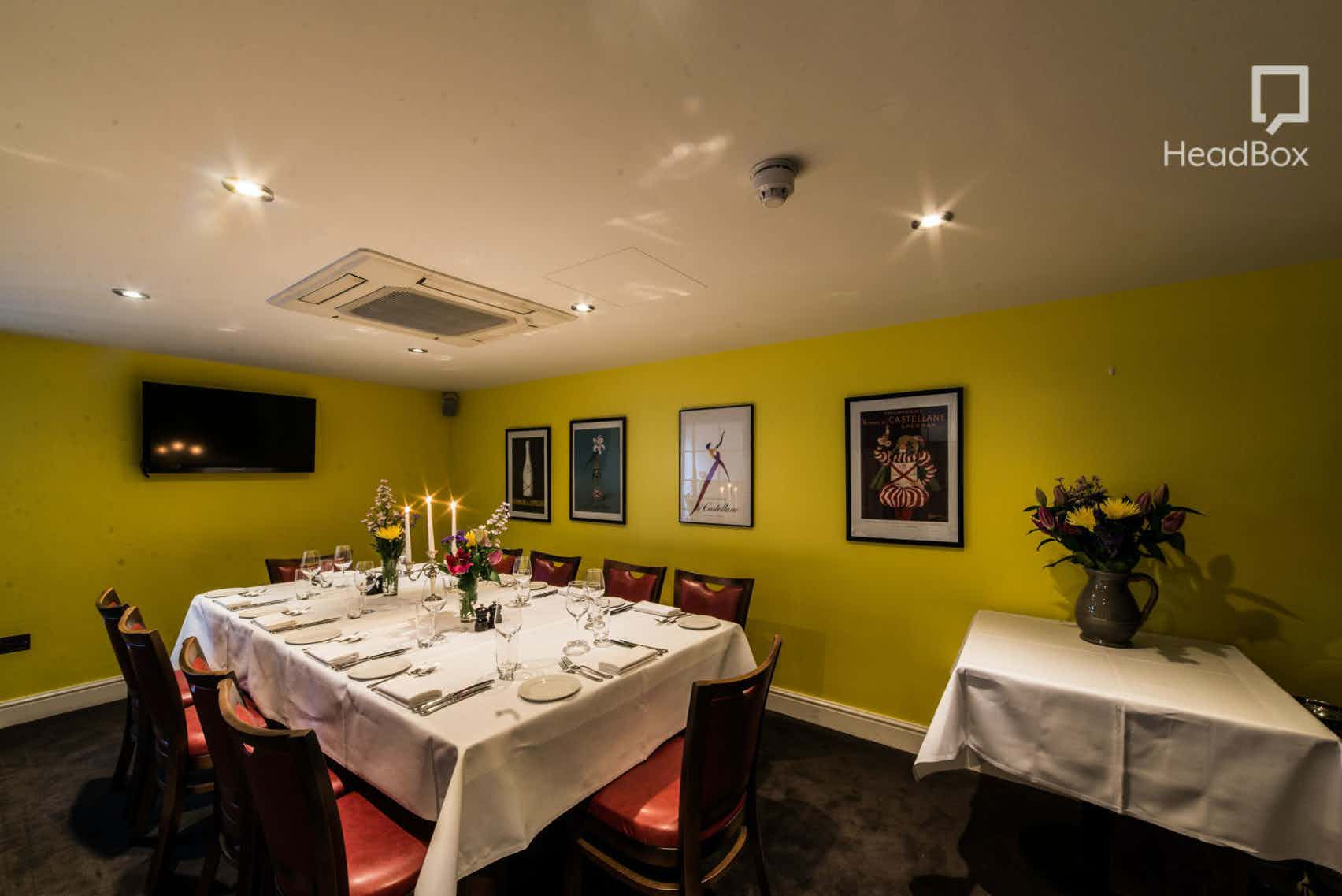 Day Hire, Private Room, Brasserie Gustave