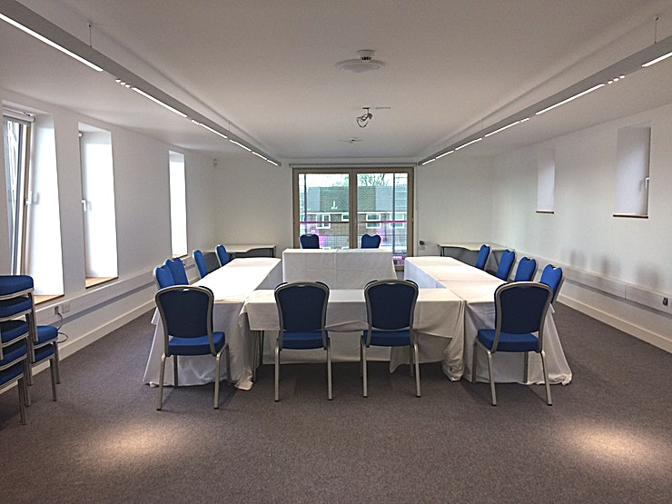 The Learning Space **The Learning Space is a bright and airy room. Large windows provide lots of natural light and a view of the internal courtyard gardens.**  