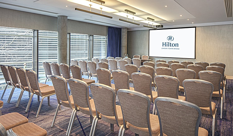 Meeting Room 2 **Meeting Room 2 at Hilton London Tower Bridge is a top of the range London meeting room for hire.** 