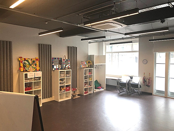 Training Room A **Training Room A at Place2Be is a multi-functional training room for hire in Clerkenwell for team away days, networking events and workshops.**