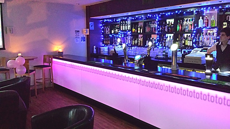 Private Bar *With two floors available for private hire or just an area reservation, Totos By The River can be booked 7 days a week*   From 9am till 2am at the weekends, the Lounge Bar & Terrace holds 100 guest
