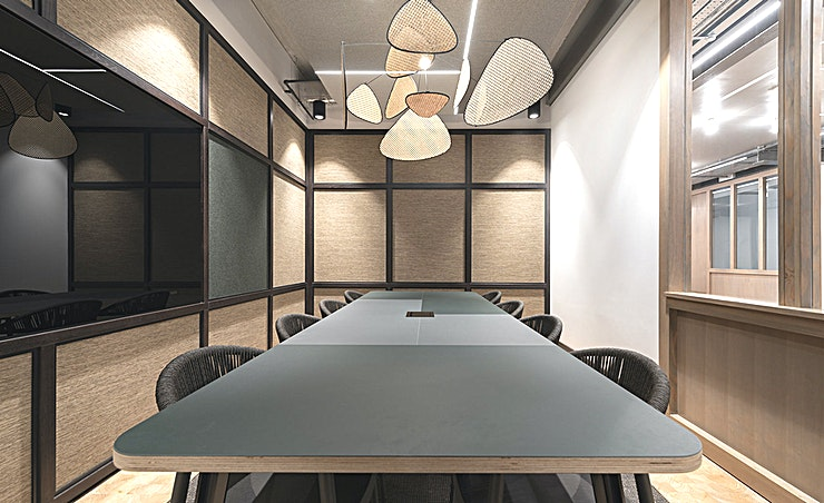 Bond **Bond's comfortable atmosphere and trendy finishing touches will ensure you impress in this 8 person meeting Space.**   Complete with LED screen, writable panel and wireless AV technology, this room is great for team meetings and business presentations.